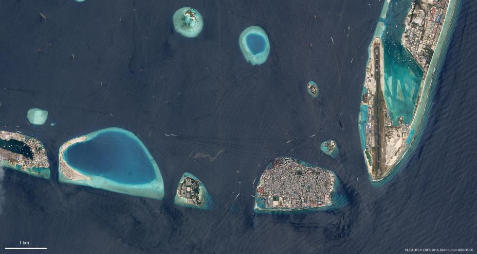 Malé Maldives Géoimage