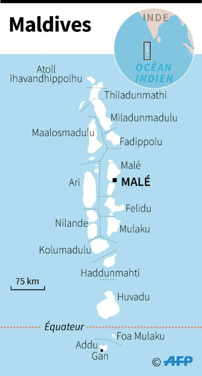 Maldives carte localisation