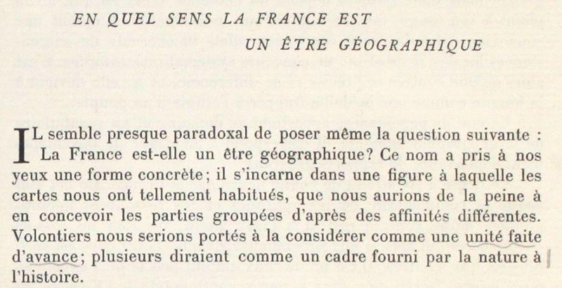 En quel sens la France est-elle un être géographique