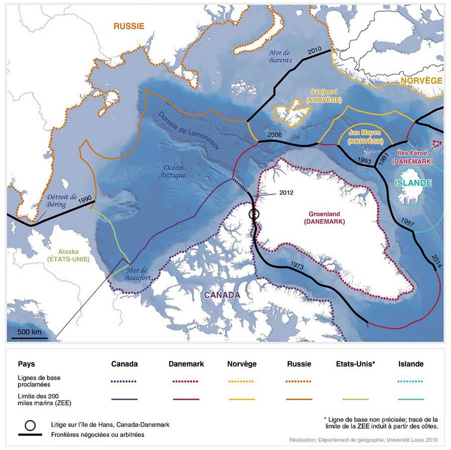 limite des zee dans l arctique juin 2019