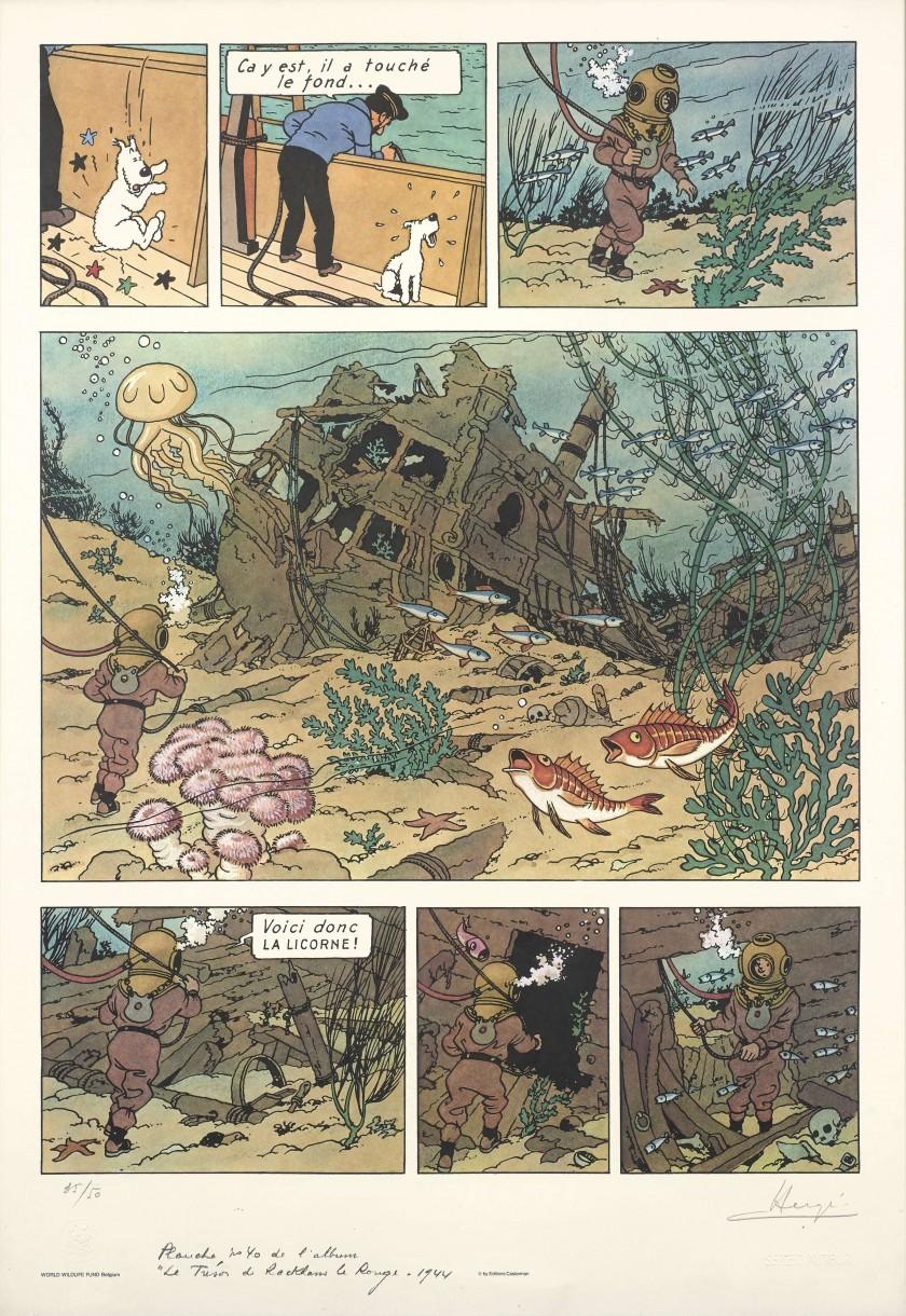 Hergé Le trésor de Rackham Le Rouge planche 01